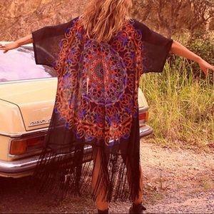 Tops - Bohemian hippie kimono🌈